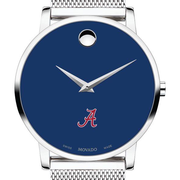 University of Alabama Men's Movado Museum with Blue Dial & Mesh Bracelet