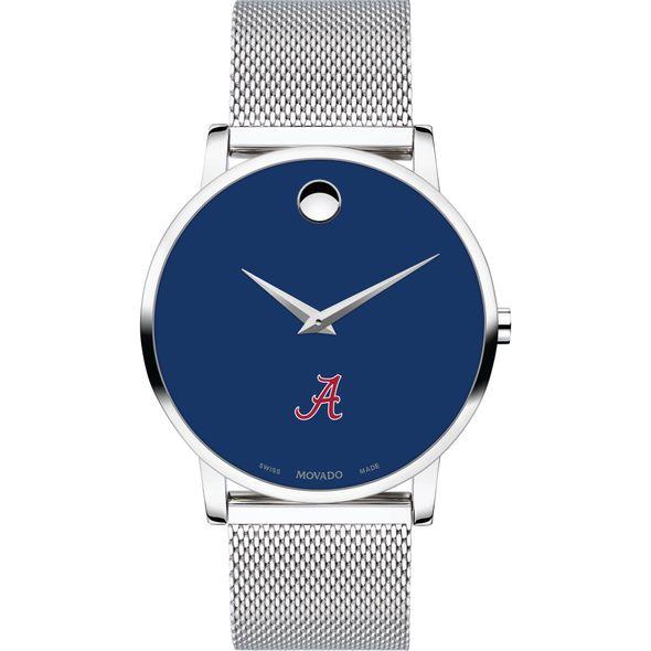 University of Alabama Men's Movado Museum with Blue Dial & Mesh Bracelet - Image 2
