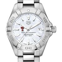 Texas Tech Women's TAG Heuer Steel Aquaracer w MOP Dial