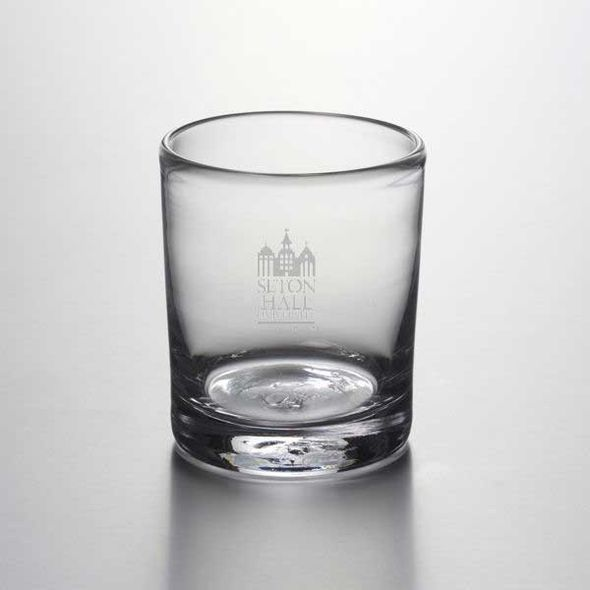 Seton Hall Double Old Fashioned Glass by Simon Pearce - Image 1