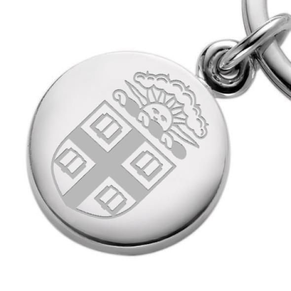 Brown Sterling Silver Insignia Key Ring - Image 2