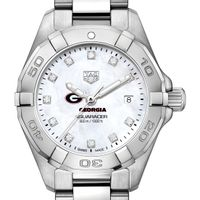Georgia Women's TAG Heuer Steel Aquaracer with MOP Diamond Dial