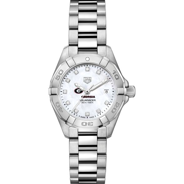 Georgia Women's TAG Heuer Steel Aquaracer with MOP Diamond Dial - Image 2