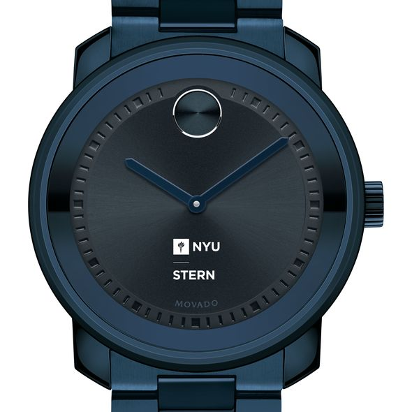 NYU Stern School of Business Men's Movado BOLD Blue Ion with Bracelet - Image 1