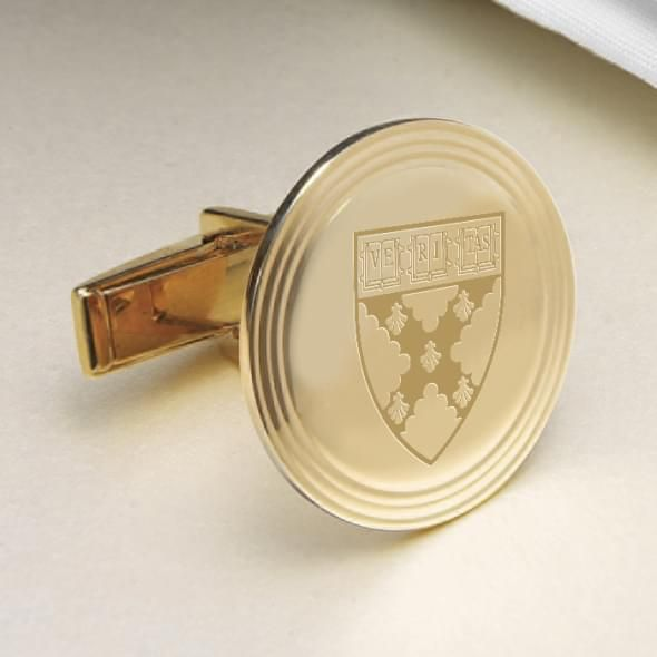 Harvard Business School 18K Gold Cufflinks - Image 2