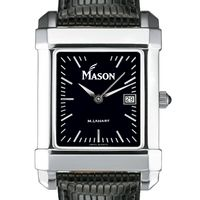George Mason University Men's Black Quad with Leather