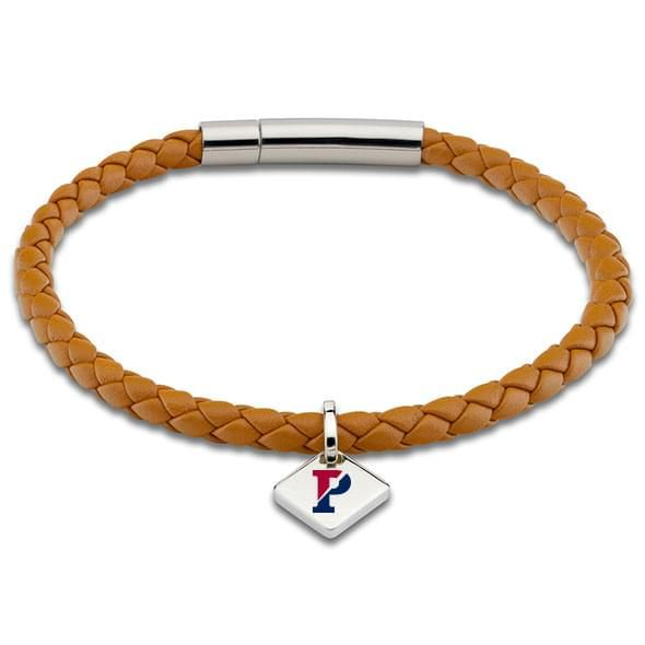 Penn Leather Bracelet with Sterling Silver Tag - Saddle