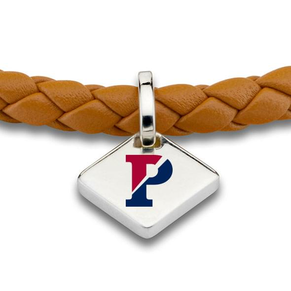 Penn Leather Bracelet with Sterling Silver Tag - Saddle - Image 2