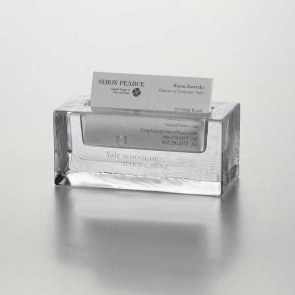 Yale SOM Glass Business Cardholder by Simon Pearce