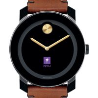 New York University Men's Movado BOLD with Brown Leather Strap