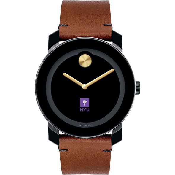 New York University Men's Movado BOLD with Brown Leather Strap - Image 2