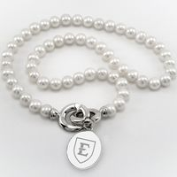 East Tennessee State University Pearl Necklace with Sterling Silver Charm