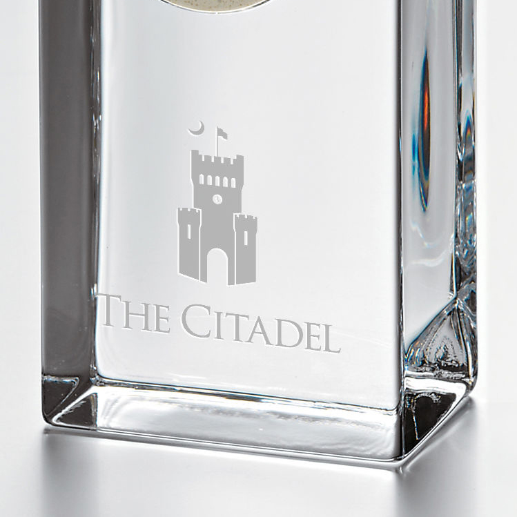 Citadel Tall Glass Desk Clock by Simon Pearce - Image 2