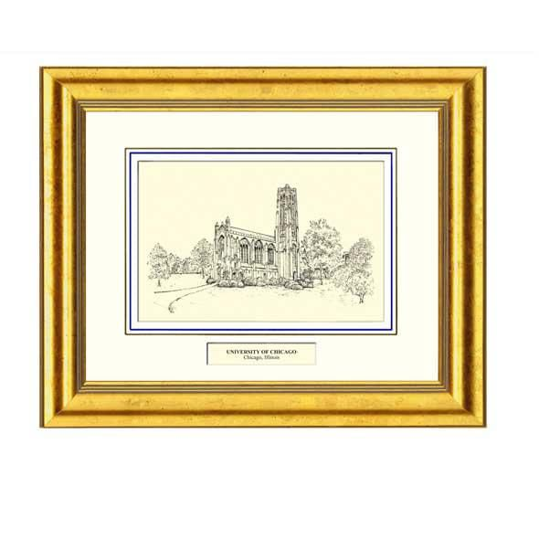 Framed Pen and Ink University of Chicago Print