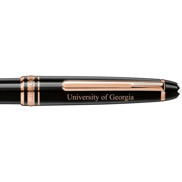 University of Georgia Montblanc Meisterstück Classique Ballpoint Pen in Red Gold - Image 2