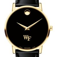 Wake Forest University Men's Movado Gold Museum Classic Leather