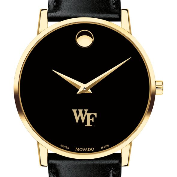 Wake Forest University Men's Movado Gold Museum Classic Leather - Image 1