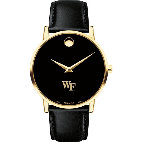 Wake Forest University Men's Movado Gold Museum Classic Leather - Image 2