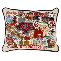 Texas Tech Embroidered Pillow