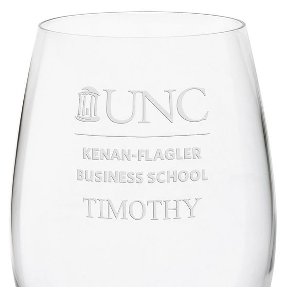 UNC Kenan-Flagler Red Wine Glasses - Set of 2 - Image 3
