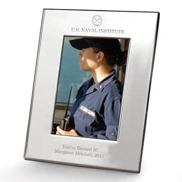 USNI Polished Pewter 5x7 Picture Frame