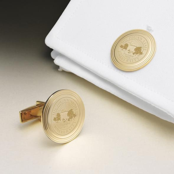 Michigan State 14K Gold Cufflinks - Image 1