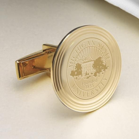 Michigan State 14K Gold Cufflinks - Image 2