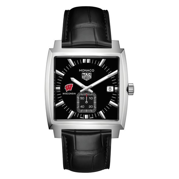 University of Wisconsin TAG Heuer Monaco with Quartz Movement for Men - Image 2
