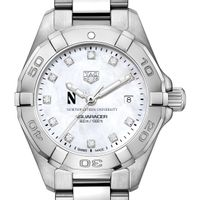 Northwestern Women's TAG Heuer Steel Aquaracer with MOP Diamond Dial
