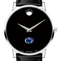 Penn State University Men's Movado Museum with Leather Strap