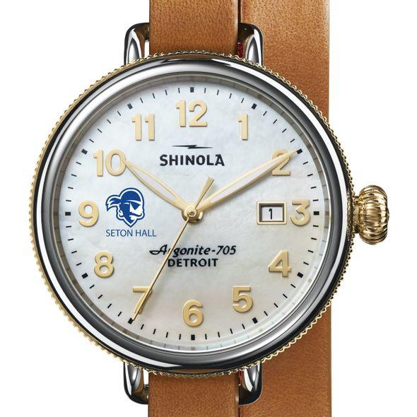 Seton Hall Shinola Watch, The Birdy 38mm MOP Dial - Image 1