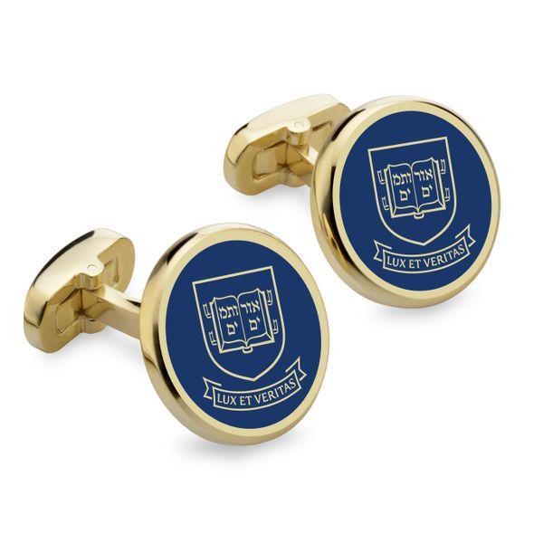 Yale Enamel Cufflinks - Image 1