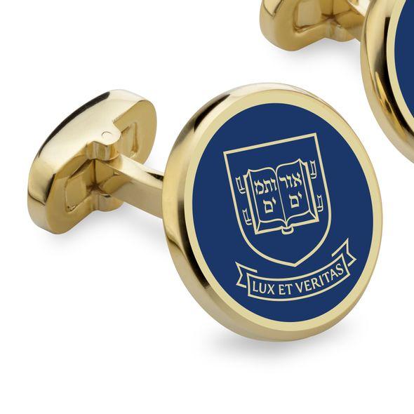 Yale Enamel Cufflinks - Image 2