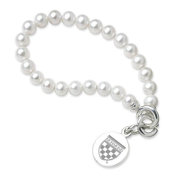 University of Richmond Pearl Bracelet with Sterling Silver Charm
