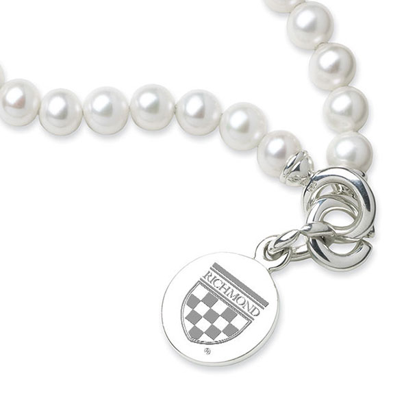 University of Richmond Pearl Bracelet with Sterling Silver Charm - Image 2