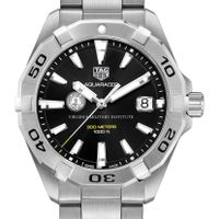 Virginia Military Institute Men's TAG Heuer Steel Aquaracer with Black Dial