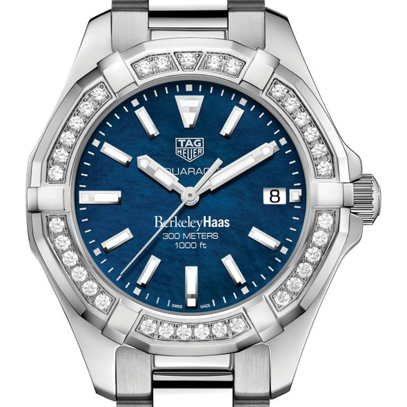Berkeley Haas Women's TAG Heuer 35mm Steel Aquaracer with Blue Dial