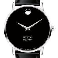 Texas McCombs Men's Movado Museum with Leather Strap