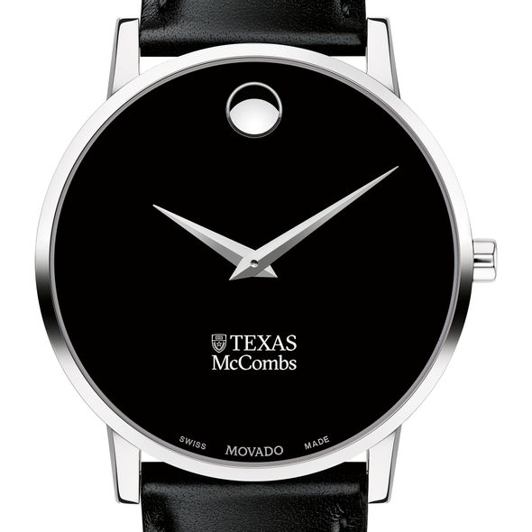 Texas McCombs Men's Movado Museum with Leather Strap - Image 1