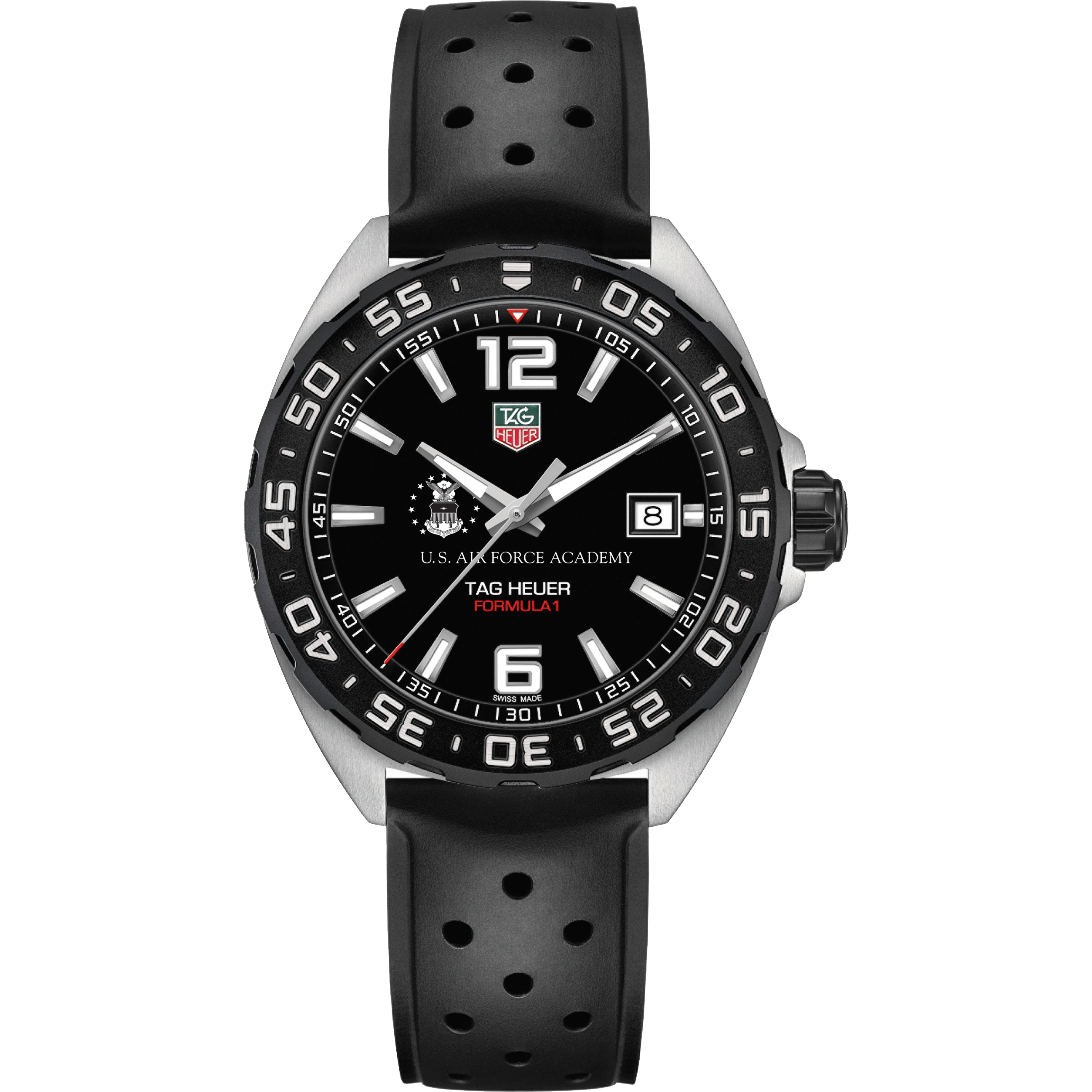Air Force Academy Men's TAG Heuer Formula 1 with Black Dial - Image 2