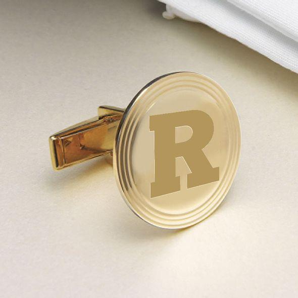 Rutgers University 18K Gold Cufflinks - Image 2