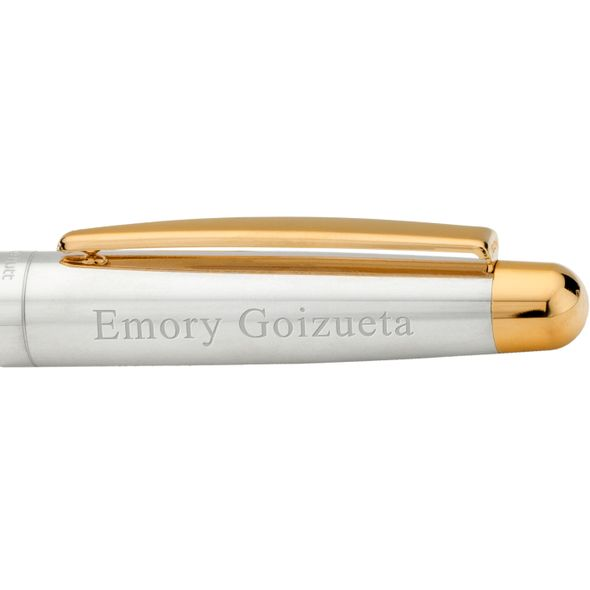 Emory Goizueta Fountain Pen in Sterling Silver with Gold Trim - Image 2
