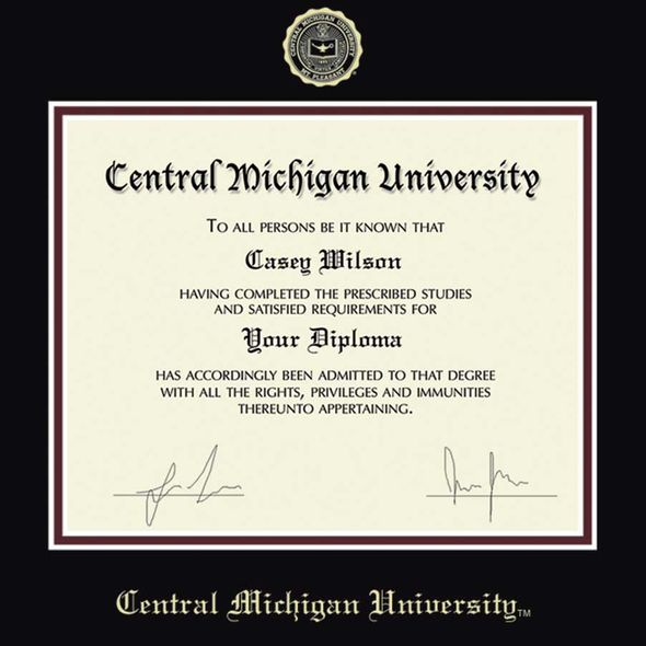 Central Michigan Diploma Frame, the Fidelitas - Image 2