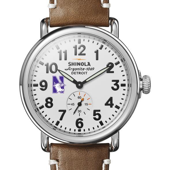 Northwestern Shinola Watch, The Runwell 41mm White Dial