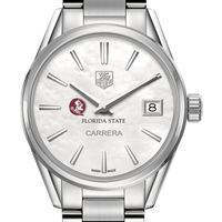 Florida State University Women's TAG Heuer Steel Carrera with MOP Dial