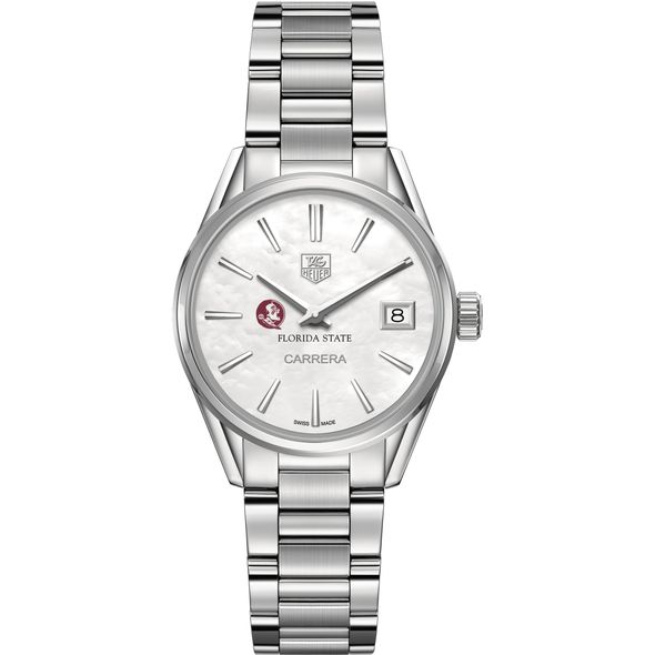 Florida State Women's TAG Heuer Steel Carrera with MOP Dial - Image 2