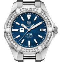 NYU Women's TAG Heuer 35mm Steel Aquaracer with Blue Dial