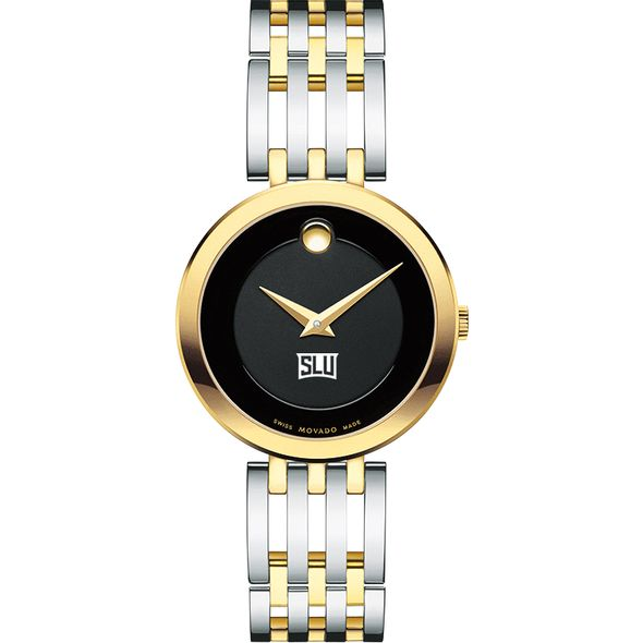 Saint Louis University Women's Movado Esparanza Two-Tone Museum with Bracelet - Image 2