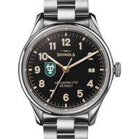 Tulane Shinola Watch, The Vinton 38mm Black Dial