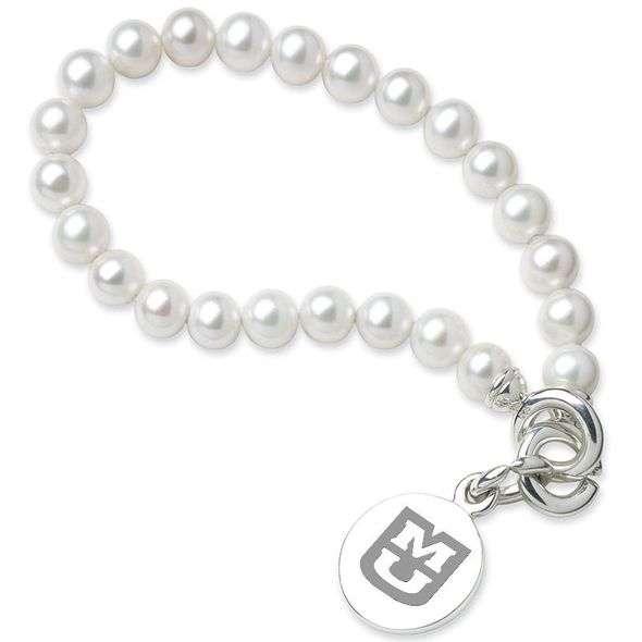 University of Missouri Pearl Bracelet with Sterling Silver Charm